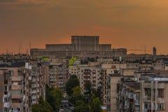 议会布加勒斯特宫殿  免版税库存图片