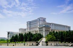 议会布加勒斯特宫殿  免版税图库摄影
