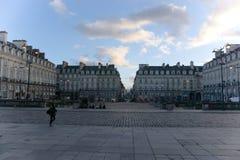 议会正方形雷恩法国 免版税图库摄影