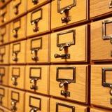 议会渥太华图书馆的抽屉  免版税库存图片