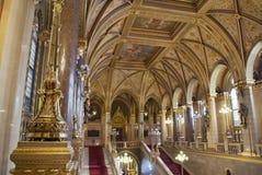 议会的内部在布达佩斯(匈牙利) 图库摄影