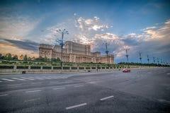 议会的宫殿在布加勒斯特,罗马尼亚 免版税库存照片