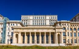 议会的宫殿在布加勒斯特 免版税库存图片