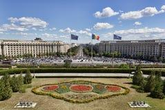 议会的宫殿,布加勒斯特 库存图片