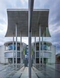 议会的建筑学零件在柏林,德国 免版税库存图片