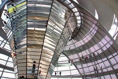 议会的Reichstag圆顶 免版税图库摄影