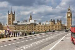议会议院在威斯敏斯特,伦敦 图库摄影