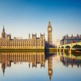议会,伦敦大笨钟和之家 免版税图库摄影