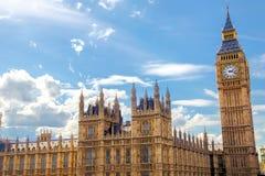 议会,伦敦,英国大本钟和议院 免版税库存照片