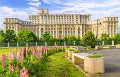 议会,布加勒斯特,罗马尼亚的宫殿 库存照片