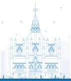 议会,渥太华,安大略,加拿大概述图书馆  皇族释放例证