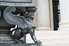 议会维也纳奥地利新来的人雕象  库存图片
