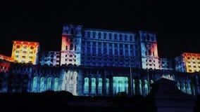 议会-夜议院在布加勒斯特,罗马尼亚 股票录像