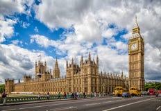 议会&大本钟伦敦议院  免版税库存照片