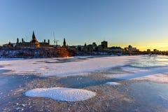 议会-渥太华,加拿大加拿大议院  库存照片