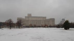 议会Romania's宫殿外部细节  股票录像