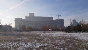 议会Romania's宫殿外部细节  股票视频