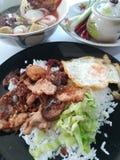 建议使用的泰国街道食物 免版税库存照片