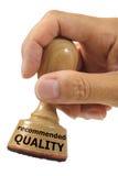 建议使用的质量 免版税库存照片