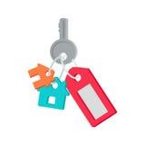 从议院传染媒介例证的钥匙在平的设计 库存照片