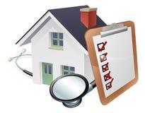 议院听诊器和勘测剪贴板概念
