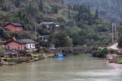 议院和一座桥梁沿长江 库存照片