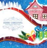 议院和圣诞节礼物 库存例证