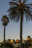 议院和棕榈在capitola 图库摄影