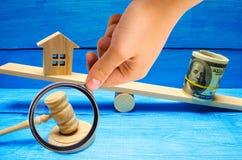议院和美元在等级 物产投资和房子m 免版税库存照片