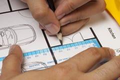 议院图纸建筑 免版税图库摄影