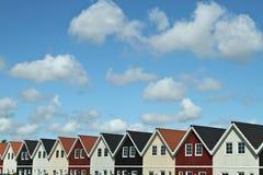 议院在一个村庄在丹麦 免版税库存照片
