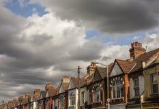 议院在伦敦,屋顶 免版税图库摄影