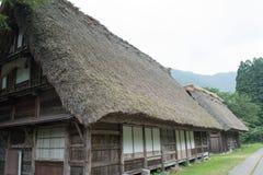 议院在历史的村庄白川町去,岐阜县,日本 图库摄影