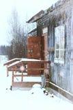 议院在国家农村冬天 免版税图库摄影