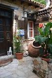 议院在塞浦路斯村庄 免版税库存照片