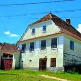 议院在撒克逊人的村庄Ungra,特兰西瓦尼亚,罗马尼亚 库存图片