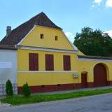 议院在撒克逊人的村庄Ungra,特兰西瓦尼亚,罗马尼亚 免版税图库摄影