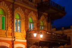 议院在晚上 图库摄影