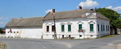 议院在村庄在Fagaras附近的Sinca Veche, 免版税库存照片