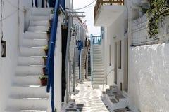 议院在米科诺斯岛 库存图片