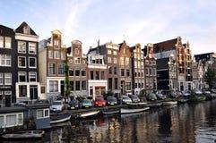 议院在阿姆斯特丹,荷兰 图库摄影