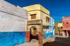 议院在Azemmour镇,摩洛哥 免版税库存图片