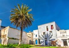 议院在Azemmour镇,摩洛哥 免版税图库摄影