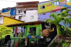 议院在Comuna 13邻里,麦德林 图库摄影