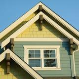 议院家庭屋顶细节 图库摄影