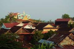 议院屋顶和佛教寺庙 免版税库存照片