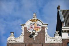 议院山墙在阿姆斯特丹 免版税图库摄影