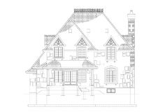 议院建筑师图纸 库存例证