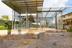 议院建设中在Boquete奇里基省巴拿马 免版税图库摄影