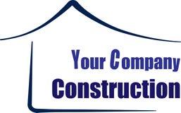 议院或家庭商标,绿色建筑学标志上升大厦象传染媒介设计 库存例证